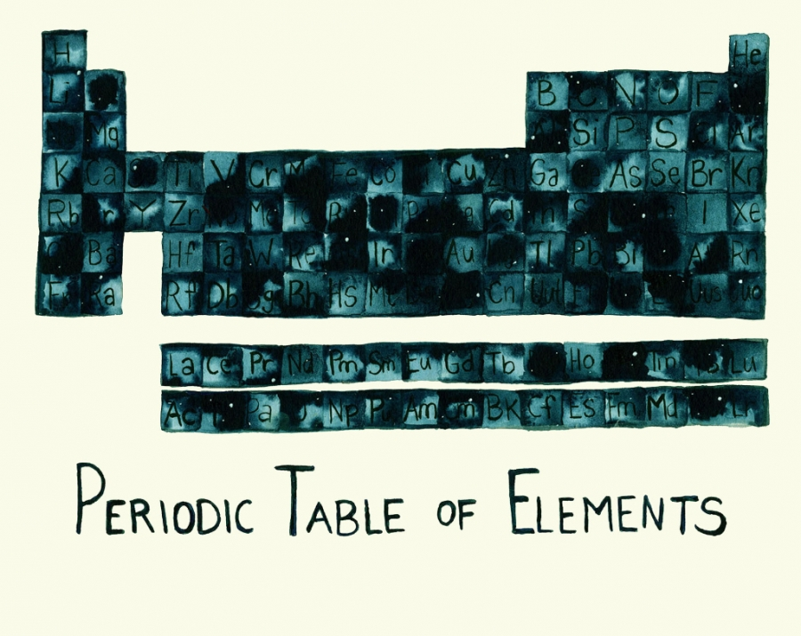 periodic table Illustration by Eva Dominelli